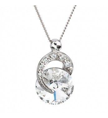 PRECIOSA Серебряная Подвеска с цепочкой Ag925/Rh676600 Crystal Gentle Beauty STYLE.  PRECIOSA Подлинные Подвеска с цепочкой из чистого серебра Ag925/Rh676600 Crystal Gentle Beauty STYLE Silver Elegance.  PRECIOSA Ювелирные изделия Silver Elegance отличается неподражаемым сверканием и точным фацетированием. Как следует из ее названия, естественную элегантность хрусталя подчеркивает серебро 925 пробы в сочетании с родием, который придает украшению роскошный вид. Silver Elegance