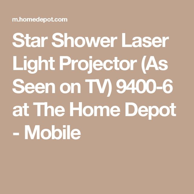 Star Shower Laser Light Projector (As Seen on TV) 9400-6 at The Home Depot - Mobile