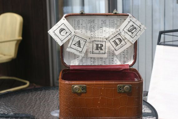 Vintage Brown Leather Suitcase & Train Case by vintageatmosphere