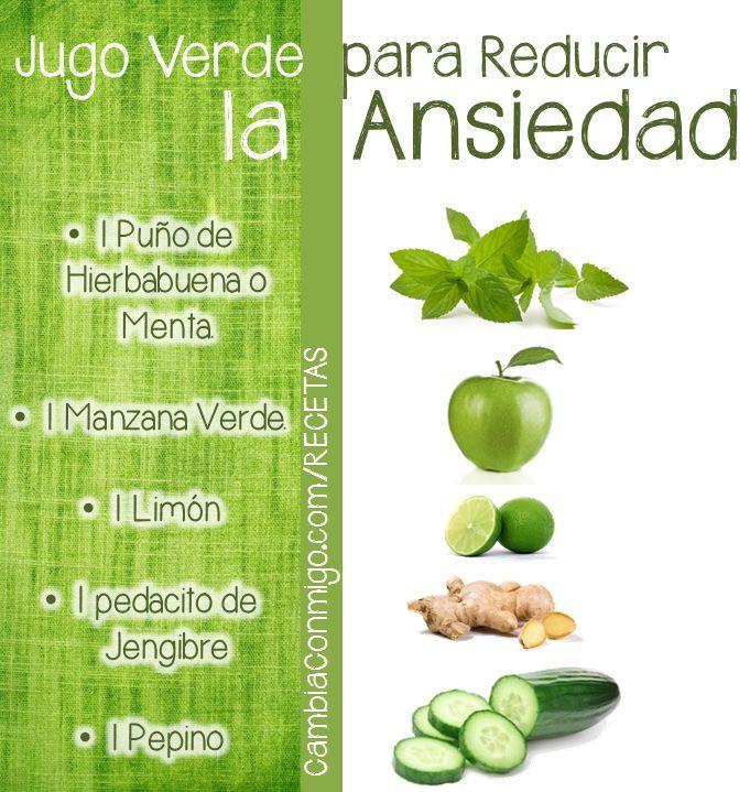 Jugo verde para reducir la ansiedad. #jugoverde #salud #ansiedad