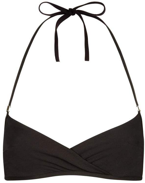 b5e7b8609d2cd La Perla Aquamarine Tango Red Underwired Bandeau Halter-Neck Bikini Top  Halter Neck