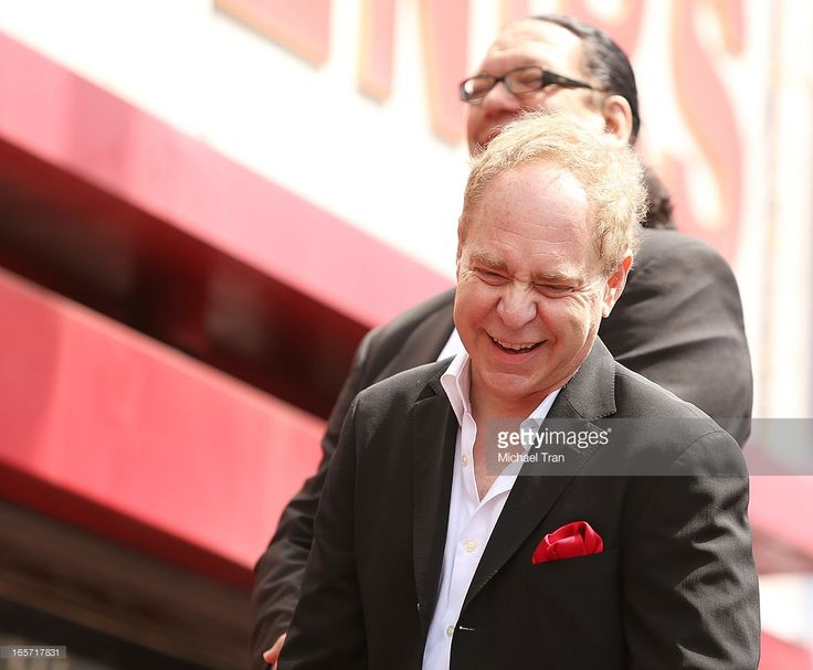 Penn Jillette and Teller attend the ceremony honoring them with a Star on The Hollywood Walk of Fame held on April 5, 2013 in Hollywood, California.