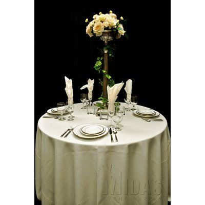 "Midas Event Supply Renaissance Tablecloth Size: 60"" x 120"", Color: Ivory"