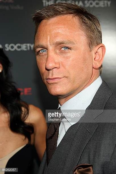 Actor Daniel Craig attends a screening of 'Defiance' hosted by The Cinema Society Nextbook at Landmark Sunshine Theater on January 12 2009 in New...