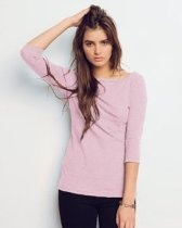 Bella Ladies Stitched Long Sleeve Boatneck T-Shirt -