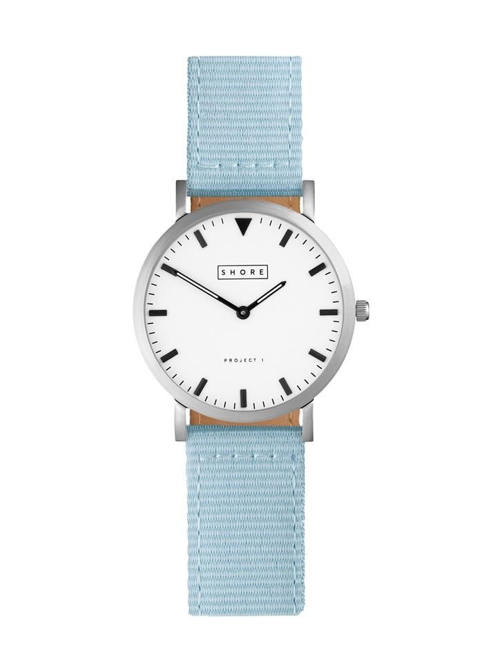 Poole Watch With Sky Blue Classic Strap//