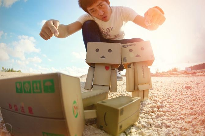 Tiernos Robots Hechos con Cajas de Amazon  cute  fotos  papel