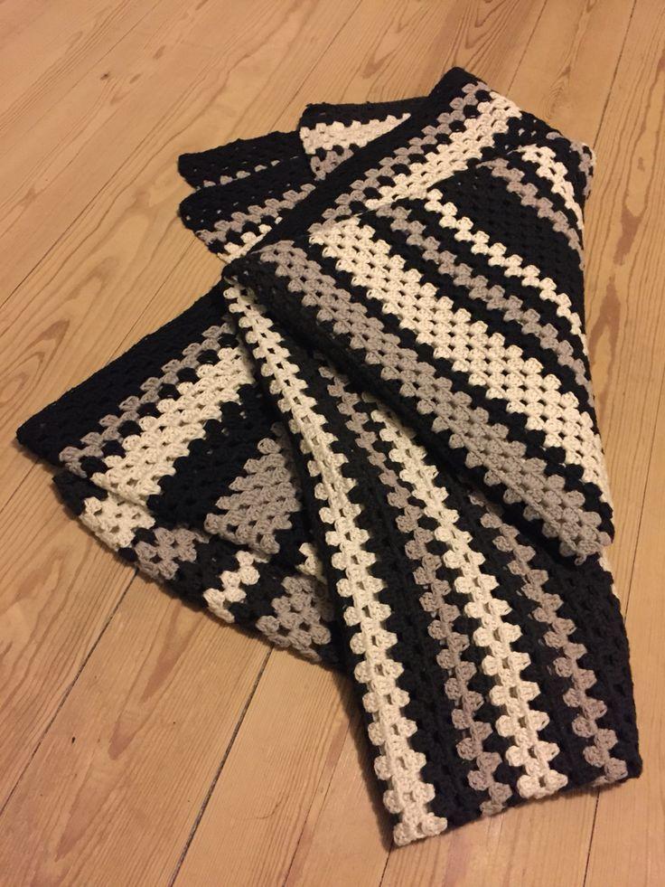 Tæppe i granny stripes