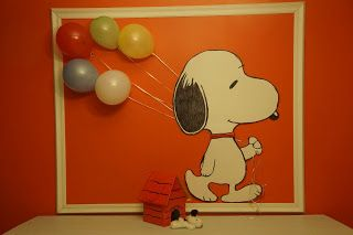 Snoopy Holding Balloons