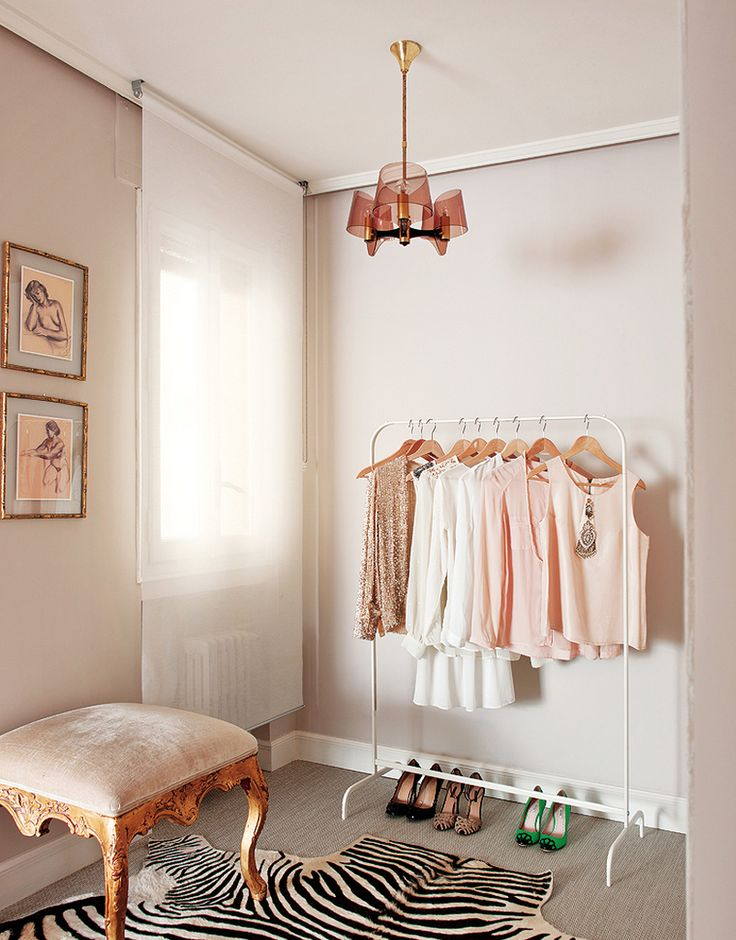 Inside a Groovy Pad Fit for a Queen// gilded stool, zebra hideDecor, Ideas, Style, Closets, Interiors, Tiny Closet, Dresses Room, Pink, Bedrooms