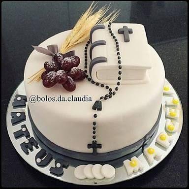 Resultado de imagen para bolos decorados de primeira comunhão