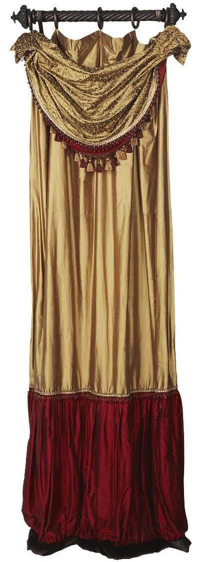 CURTAINS: Luxury Christmas Curtain by Reilly-Chance Collection: Panel style #11 with swag overlay style 10