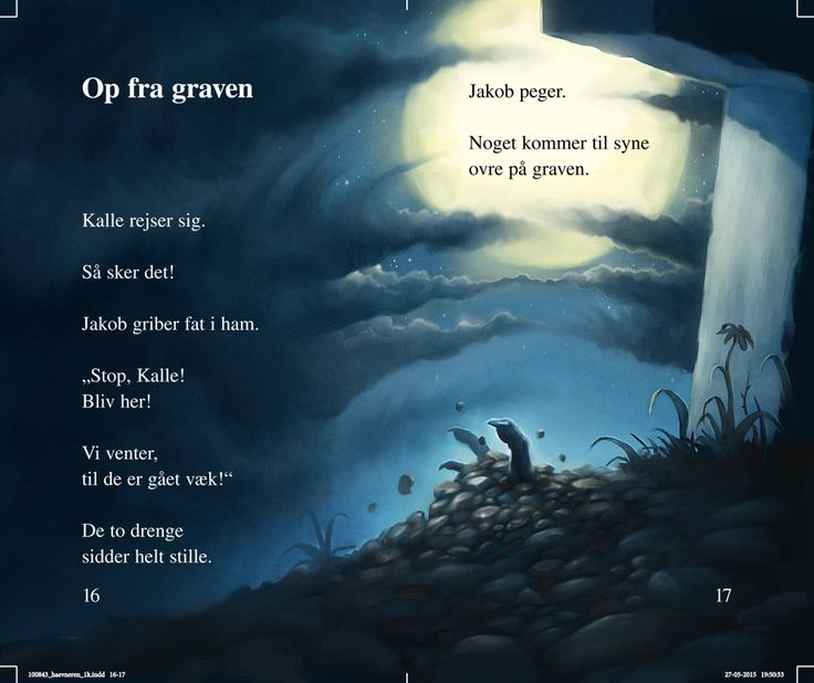 "Spread from a children's book by Per Østergaard, called ""Revenge from the Grave""."