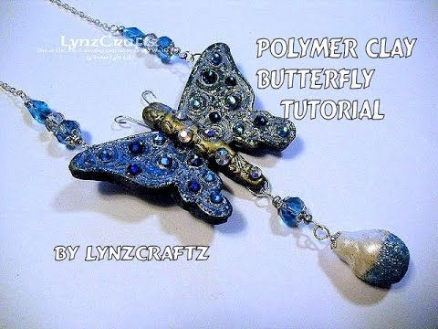 2061 best fimo pendant images on pinterest polymer clay polymer clay butterfly pendant tutorial youtube mozeypictures Image collections