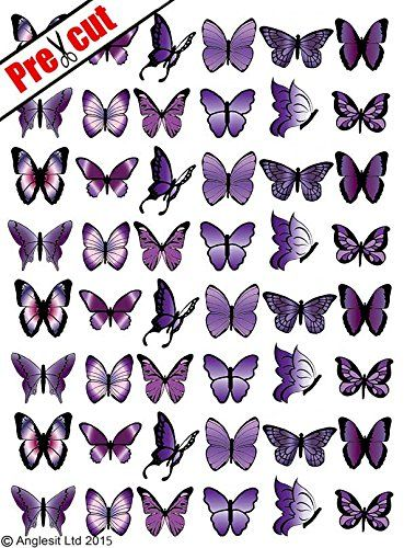 48 X PRE-CUT PURPLE MIX BUTTERFLY EDIBLE RICE / WAFER PAPER CUP CAKE TOPPERS BIRTHDAY PARTY WEDDING DECORATION Anglesit Butterflies http://www.amazon.co.uk/dp/B00CA87BGQ/ref=cm_sw_r_pi_dp_vgOewb1E87760