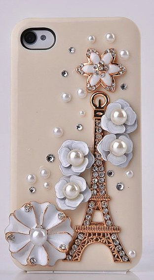 Flower Eiffel tower Iphone case - I need this case for my phone...stat.