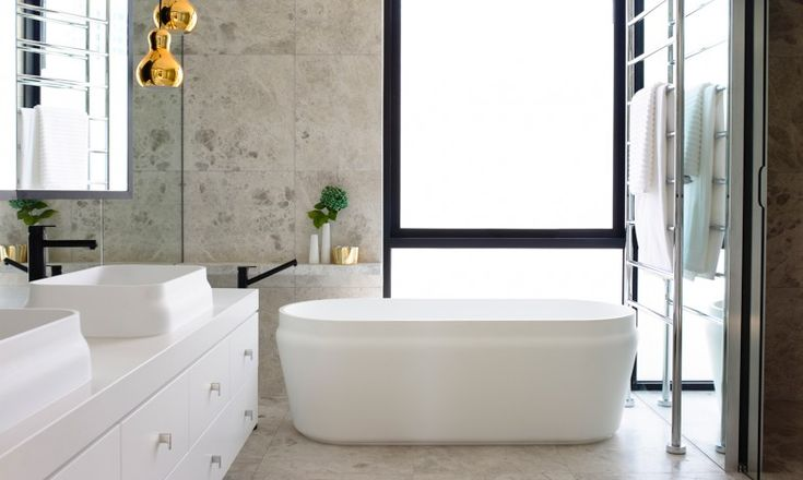 mim bathroom residence chambers interior townhouse clean contemporary lined laconic bath tub standing beautifully designed australia homeadore digsdigs
