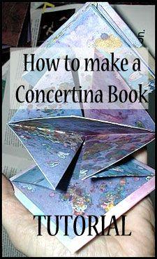 How to make a concertina book tutorial by Liz Plummer