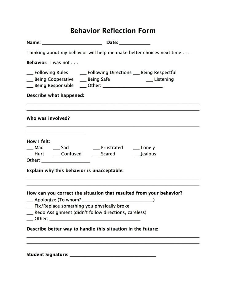 The 25+ best Behavior reflection ideas on Pinterest Think sheet - apology letter to school