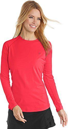 9e4dad652e Coolibar UPF 50+ Women's Long Sleeve Hightide Swim Shirt - Sun Protective  (Large- Poppy Red) swim shirts red #Coolibar #Hightide #Large… | Sport  Stuff ...