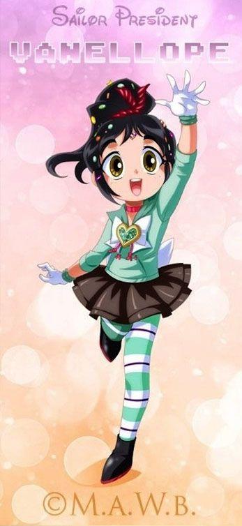 Cross-overs de personagens costumam sempre gerar resultados interessantes, e um que chamou minha atenção por ser super fofo foi o de personagens femininos da Disney no universo de Sailor Moon! Nas imagens abaixo você confere princesas e outras personagens da Disney com as características pernas suuuper longas das Sailors, além das roupas e olhos grandes…