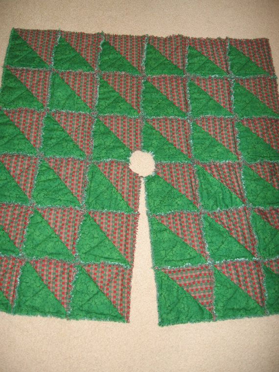 23 best rag quilts images on Pinterest | Rag quilt patterns, Pop ... : rag quilt christmas tree skirt pattern - Adamdwight.com