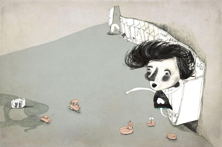 Illustration for Childrens book. Original titel : Dumme Lili