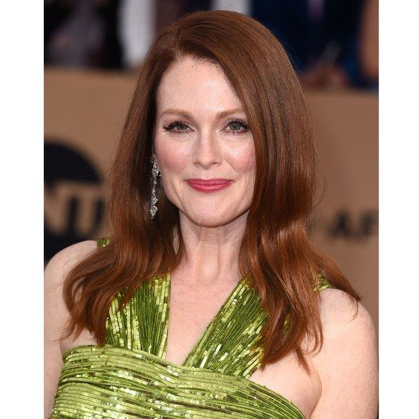 """Very rarely do you see green eyes with coppery hair shades in nature,"" says colorist Christopher Pierce of the Andy Lecompte Salon in Los Angeles. For women with green and brown eyes, the darker side of red is more flattering. Julianne Moore's subtle approach is versatile: ""She has rosy, fair skin, but those with olive undertones and naturally brown hair can pull this off beautifully, too,"" he says."