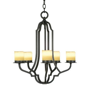 Dana creath designs five light forged iron chandelier available with wax candles shades and all metal finishes x