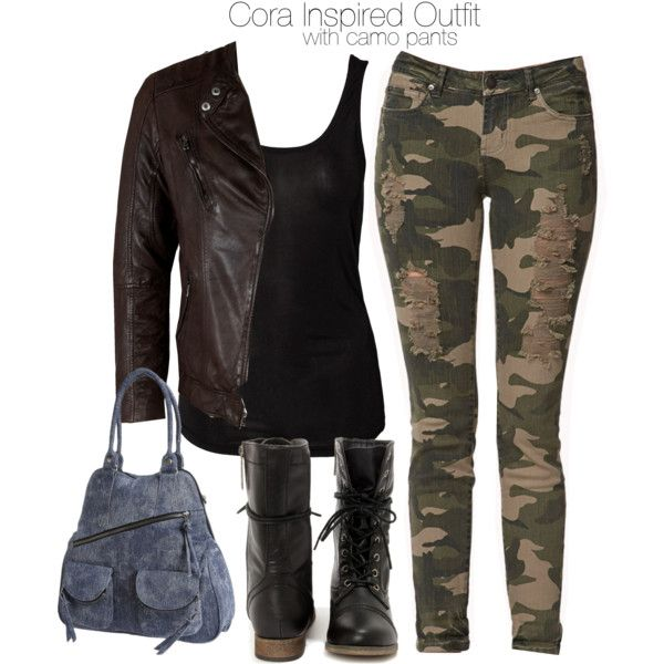 """Cora Inspired Outfit with Camo Pants"" by veterization on Polyvore"