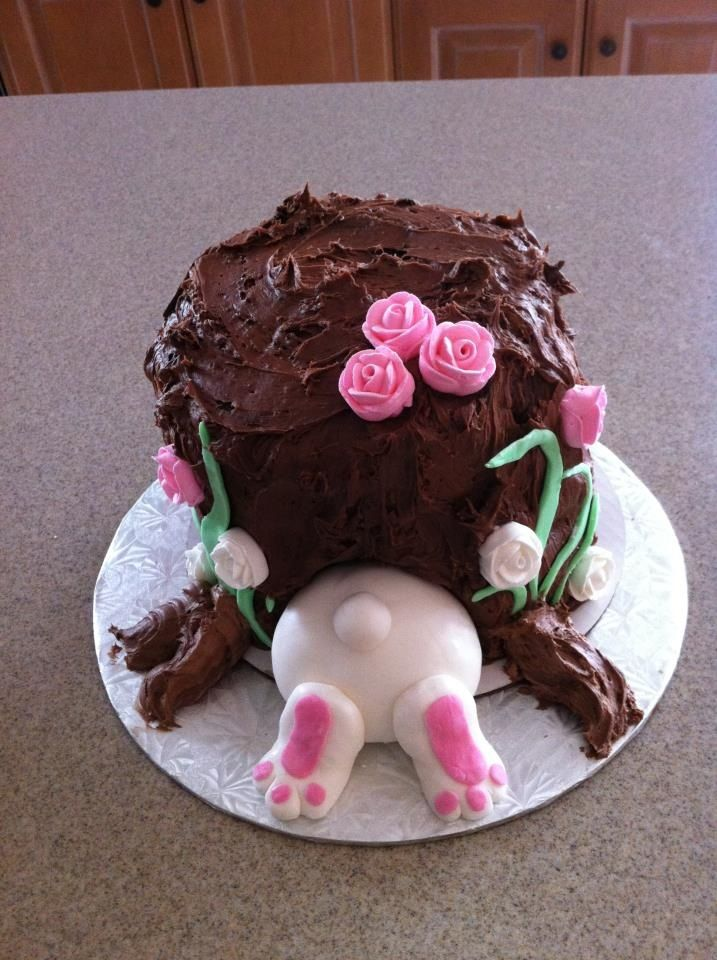 Haha , this is too CUTE!  Cute Bunny Cake! Love Easter time! Family and friends time! #easter #bunny #moments