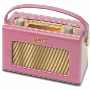 Roberts  Roberts DAB Radio - Pink: The iconic 'Revival' DAB radio is a nostalgic 1950s style retro radio with advanced DAB features. In a range of colours it not only looks great it sounds great too. Now with 120 hours battery life this fantastic DAB radio is more portable than ever.
