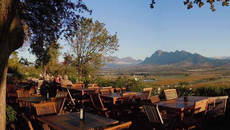 The Spice Route - view from the Restaurant at Spice Route - Paarl, South Africa