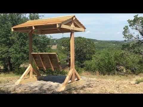 Как построить крыльцо Качели Frame - YouTube