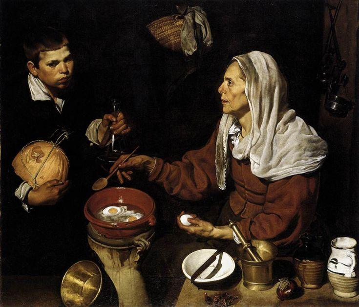"""""""Velha fritando ovos"""", Diego Velázquez, 1618"""