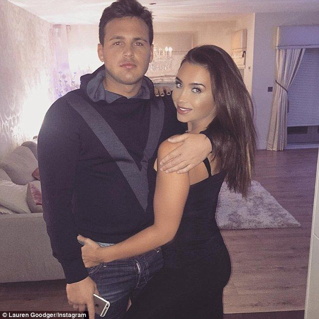'You are a pain but I love you': Lauren Goodger seemingly confirmed she's back with her on-off boyfriend Jake McLean, following a month-long split, when she uploaded this cosy Instagram image of the pair enjoying a date at the weekend
