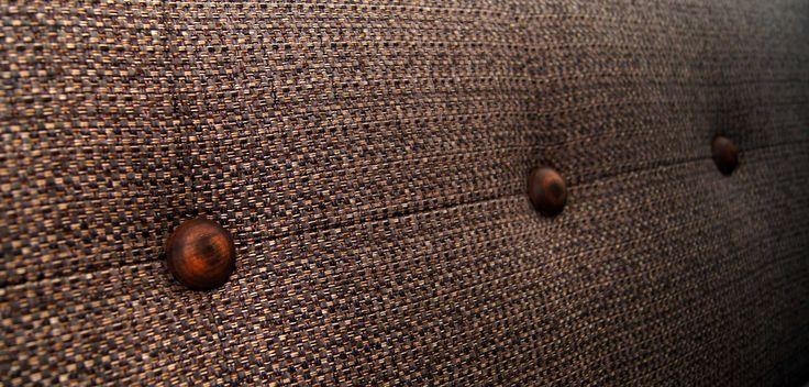 Wooden button detail ........