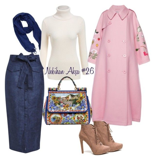 hijab fashion outfit #26 by nebihan-akca on Polyvore featuring polyvore fashion style VIVETTA Dolce&Gabbana La Fiorentina women's clothing women's fashion women female woman misses juniors
