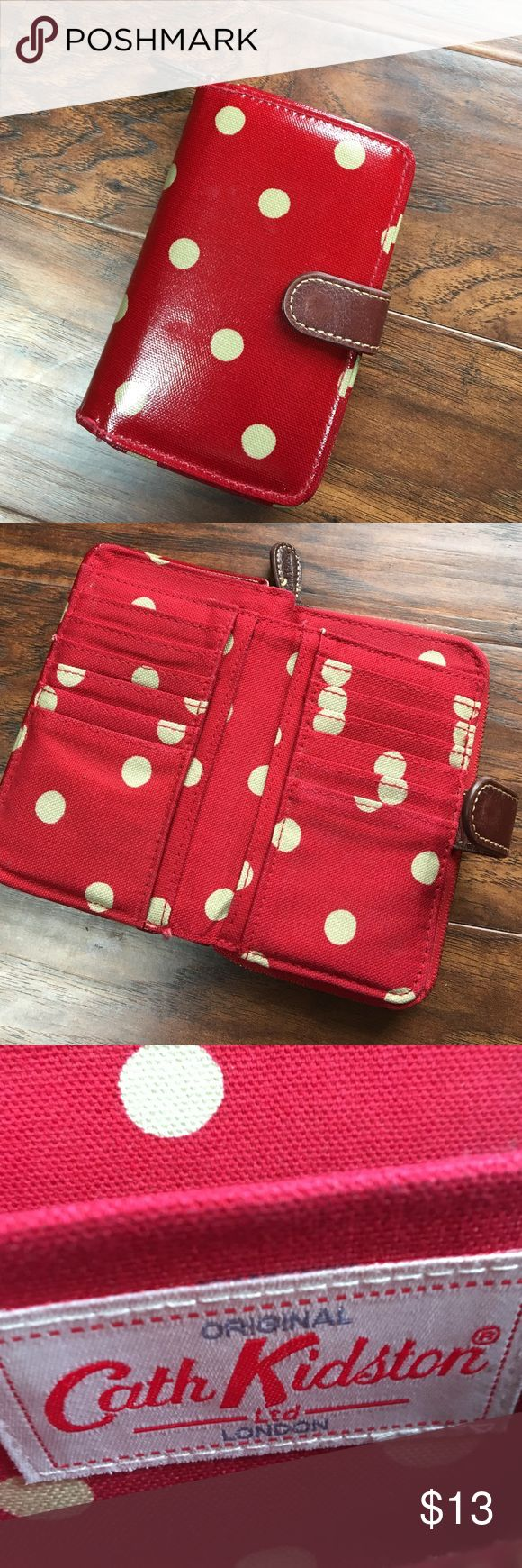 Cath Kidston Button Spot Folded Zip Wallet This adorable wallet is classic Cath Kidston! It holds a ton of cards, coins and cash. It's in great condition and ready for a new home! Cath Kidston Bags Wallets