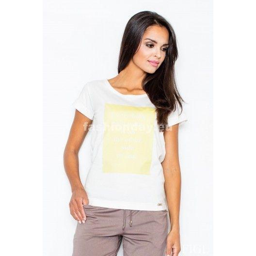 Biele dámske tričká s nápisom - fashionday.eu