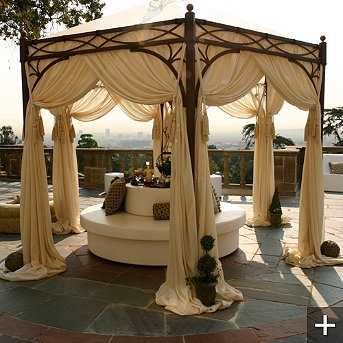 Outdoor wedding lounge ideas