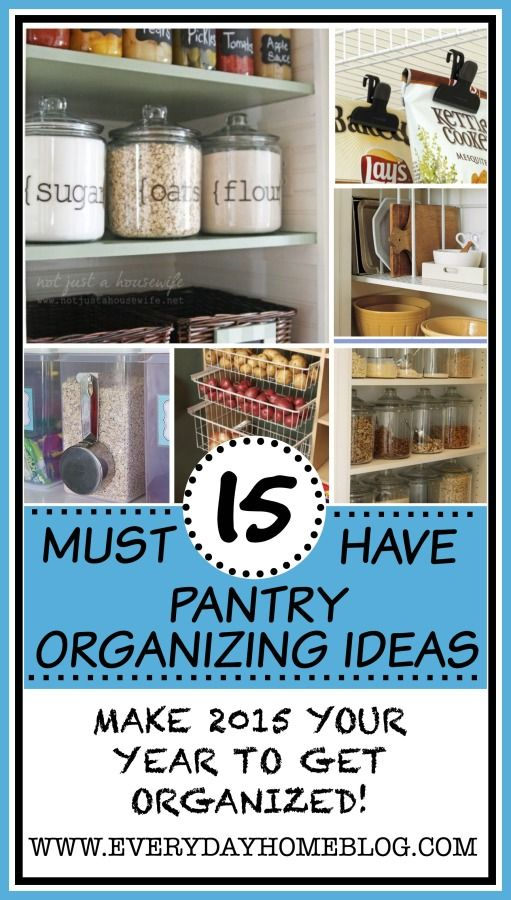 "15-Must Have Pantry Organizing Ideas from The Everyday Home / www.everydayhomeblog.com / ""Simple, Country Living!"""