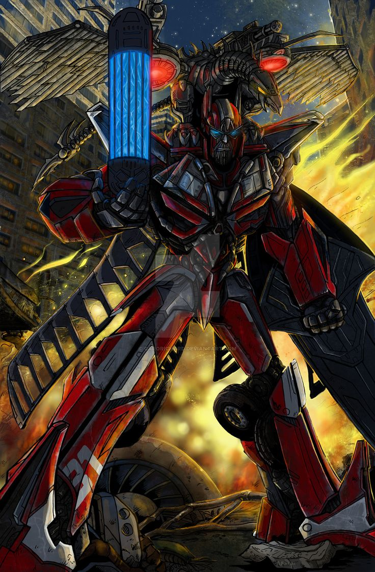 Transformers Sentinel Prime & Laserbeak by CaroRichard