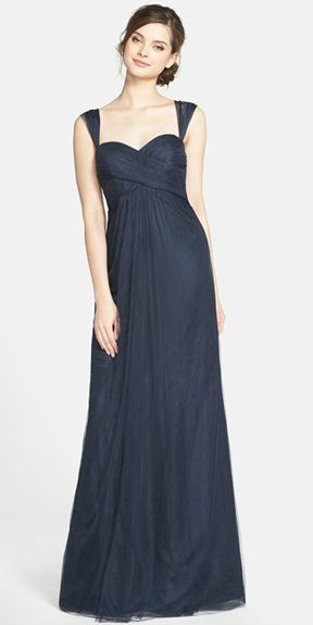 Navy blue bridesmaids' dresses with straps 'Willow' by Jenny Yoo from Nordstrom