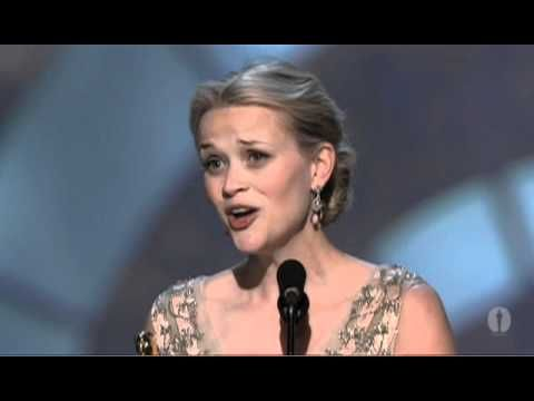"""Reese Witherspoon winning Best Actress for """"Walk the Line"""""""