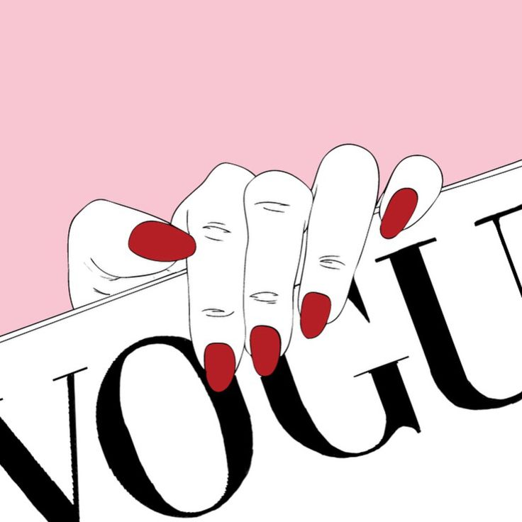 Imagen de pink, vogue, and hand
