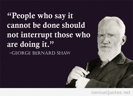 George Bernard Shaw about people