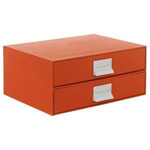 A4 Storage Drawers 2 High Orange