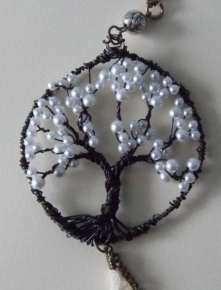 Tree of Life pendant - think I would prefer creamier pearls - or perhaps a greenish, teal.... possibilities are endless!!