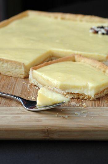 Tarte au citron sans beurre ni gélatine